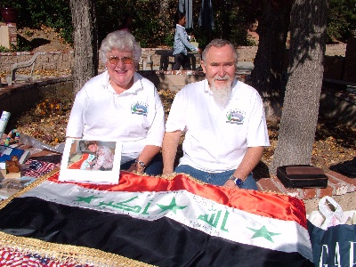 Bill & Diane with Iraqi Flag